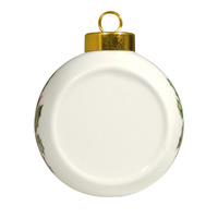 84005 Ceramic Christmas Ball Ornament Front